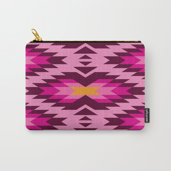 Tribal pattern - pink Carry-All Pouch