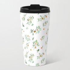 orange - subtle pattern Travel Mug