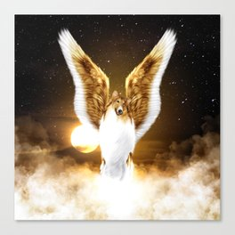 Collie Angel Canvas Print