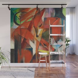 """Franz Marc """"The foxes"""" Wall Mural"""