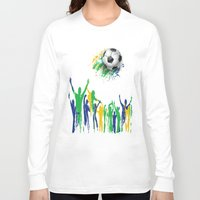 world cup Long Sleeve T-shirts featuring World Cup Fever by Robin Curtiss