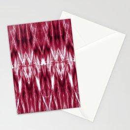 Maroon Satin Argyle Shibori Stationery Cards
