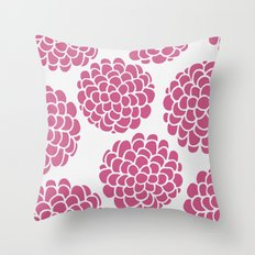 Minimal Series - Raspberries Throw Pillow