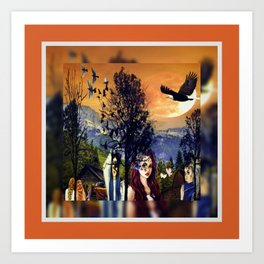A Sunday Morning Sunset In The Mountains Art Print