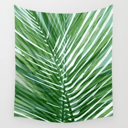 Abstract Palm Leaves | Green Wall Tapestry