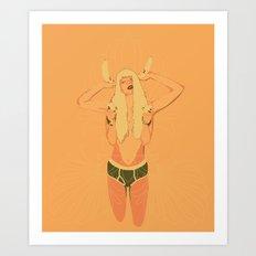 BANANE/ORANGE Art Print