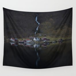 River that vanishes (Fjord) Wall Tapestry