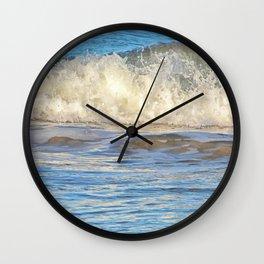 Wonderful ocean splashes Wall Clock