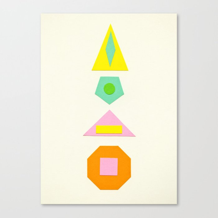 Shapes Within Shapes Canvas Print