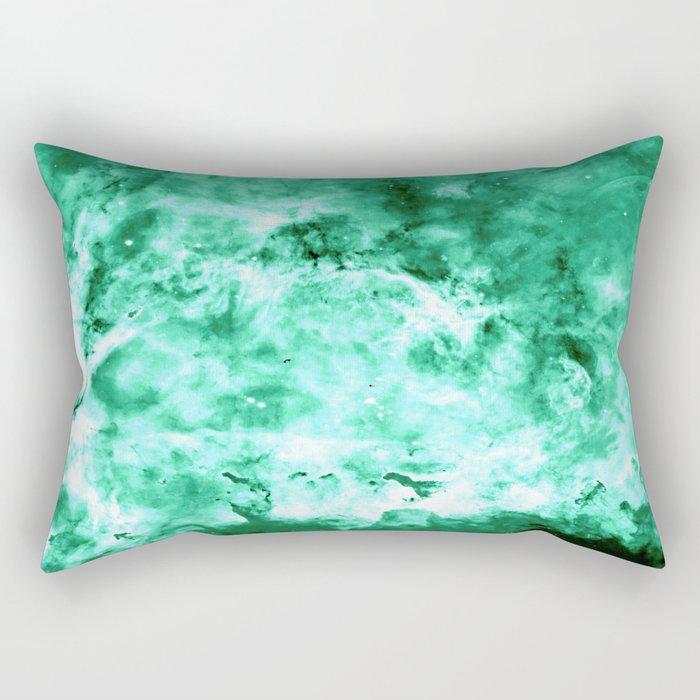 Sea Green Nebula Waves Rectangular Pillow