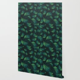 Tropical Night Palms Pattern #1 #tropical #decor #art #society6 Wallpaper