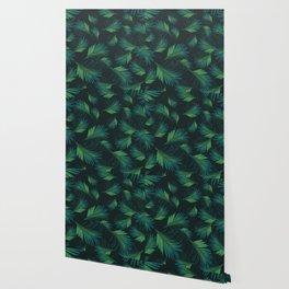 Tropical Night Palms Pattern #1 #tropical #decor #art #society6 Wallpaper