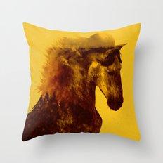 Proud Stallion Throw Pillow