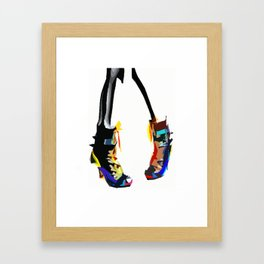 Colorful pop art shoes Framed Art Print