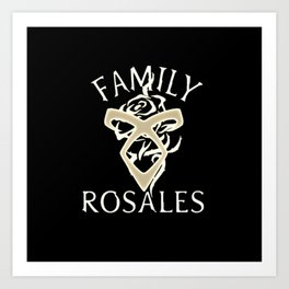 family rosales Art Print