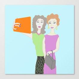 Selfies Canvas Print