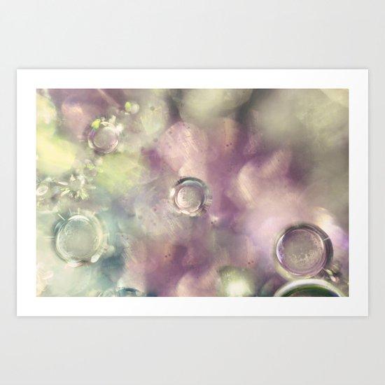 Ice Crystals Art Print