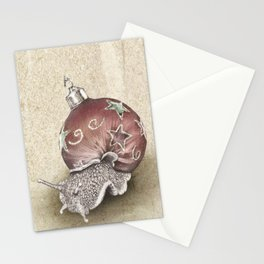 In which a snail is most festive this christmas  Stationery Cards