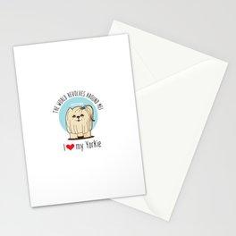 I love my Yorkie Stationery Cards