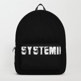 Cool Anti System Relevant T-shirt Protest Shirt Backpack
