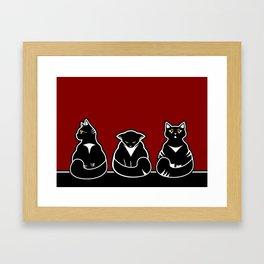 Three not so friendly kitties Framed Art Print