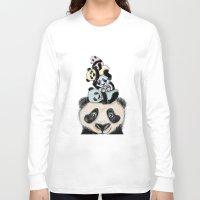 pandas Long Sleeve T-shirts featuring pandas by Svenningsenmoller Design