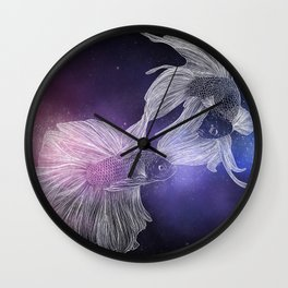 Piscean Yin Yang Wall Clock