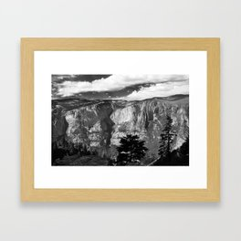 Mountains of Yosemite National Park  Framed Art Print