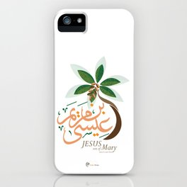 Jesus son of Mary iPhone Case