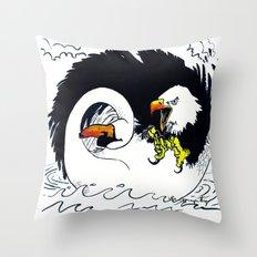 Eagle & Swan Throw Pillow