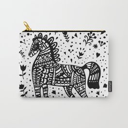 Little Black Pony Carry-All Pouch