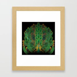 """Emerald and black peacock"" Framed Art Print"