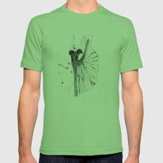dancer*** Mens Fitted Tee Grass SMALL