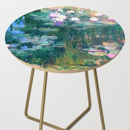 water lilies : Monet Side Table