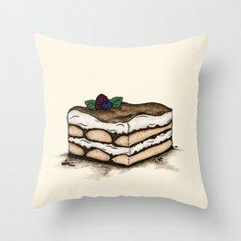 T is for Tiramisu Throw Pillow
