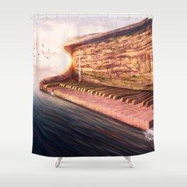 Piano Accord in Sea minor Shower Curtain