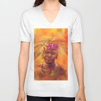 spice V-neck T-shirts featuring Spice Kid by The Art of Vancuf