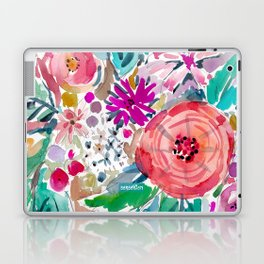 High by the Beach Painterly Floral Laptop & iPad Skin