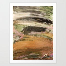 Quicksand Roses blooming Art Print