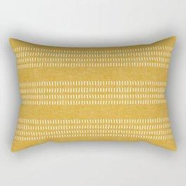 farmhouse stitch - gold Rectangular Pillow