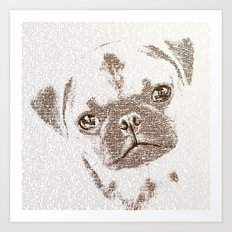 The Intellectual Pug Art Print