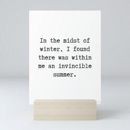 An Invincible Summer Mini Art Print