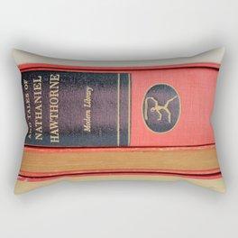 Modern Library in Red Rectangular Pillow