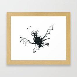 Little Bat Ink Splat Framed Art Print