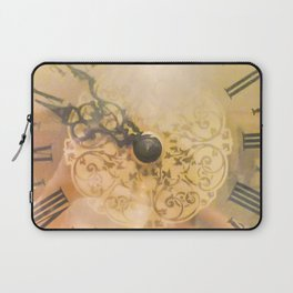 Old Wall Clock Vintage Style Photo Laptop Sleeve