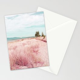 Coastal trail - blush Stationery Cards