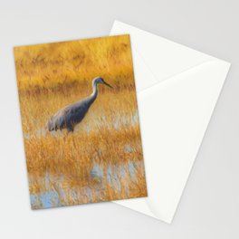 Sandhill Cranes in Fall Stationery Cards