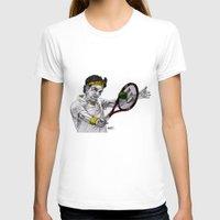 tennis T-shirts featuring Tennis Federer by Paul Nelson-Esch Art