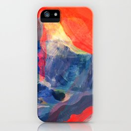 Abstract Mt. Everest iPhone Case