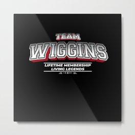 Team WIGGINS Family Surname Last Name Member Metal Print